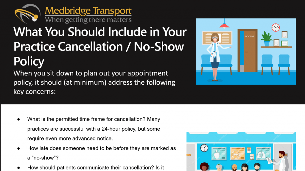 What You Should Include in Your Medical Practice Cancellation / No-Show Policy
