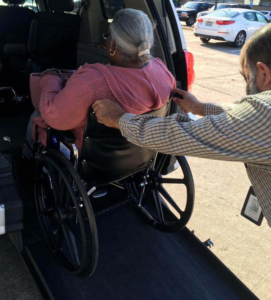 wheelchair transportation, medbridge transport accessible vehicle