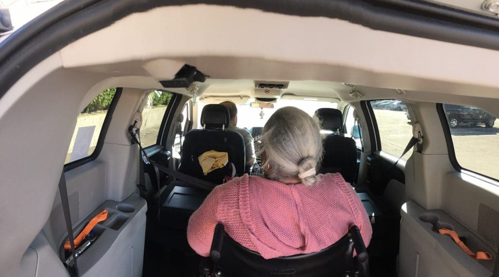 Medbridge Transport Vehicles are wheelchair accessible